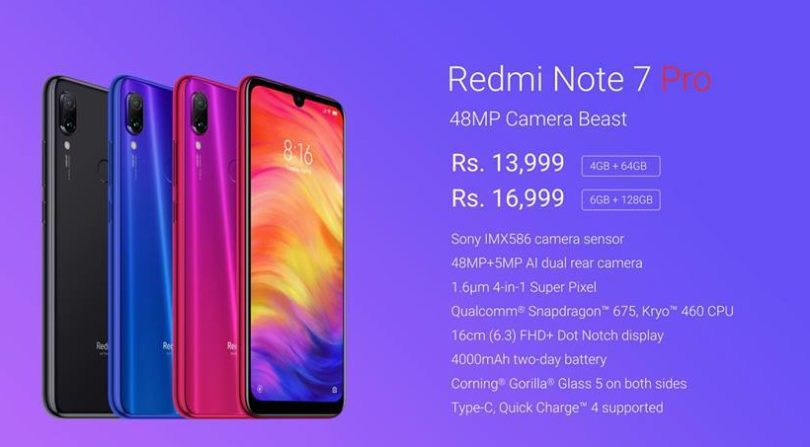 Redmi Note 7 Pro Specifications